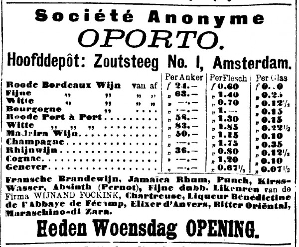 Advertentie in dagblad De Amsterdammer, 25 maart 1896.