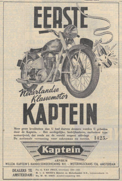 Advertentie in de Volkskrant, 25 april 1949.