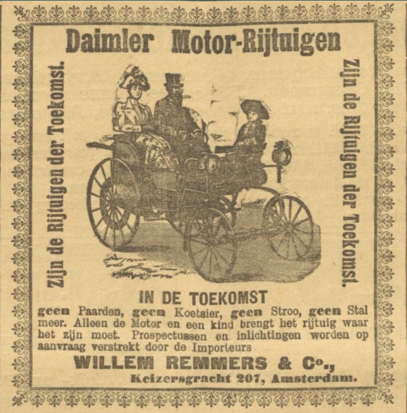 Advertentie in het dagblad De Amsterdammer van 27 september 1896.